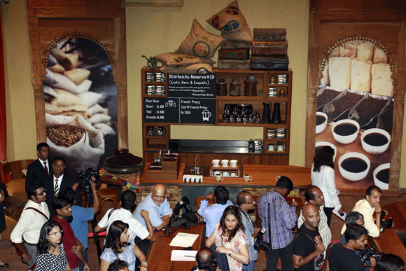 Starbucks started operations in Mumbai October 2012