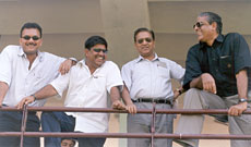 From left: Madan Lal, Ashok Malhotra, Chandu Borde and Sanjay Jagdale