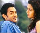 Aamir Khan and Preity Zinta in Dil Chahta Hai