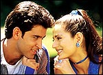 Hrithik Roshan and Amisha Patel in the non-starter Aap Mujhe Achche Lagne Lage