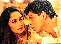 Madhuri and Shah Rukh in Devdas
