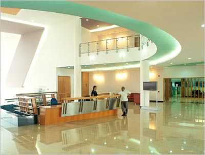 The lobby of Infosys's development centre in Mysore.
