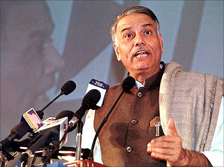 Yashwant Sinha, finance minister in Vajpayee government.