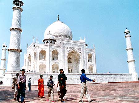 The iconic Taj Mahal in Agra, Uttar Pradesh