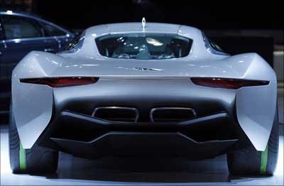 Jaguar's CX75 electric car.