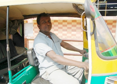 Ensure your rickshaw driver knows that he is being tracked