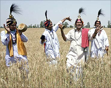 Celebrations to mark the Baisakhi festival.