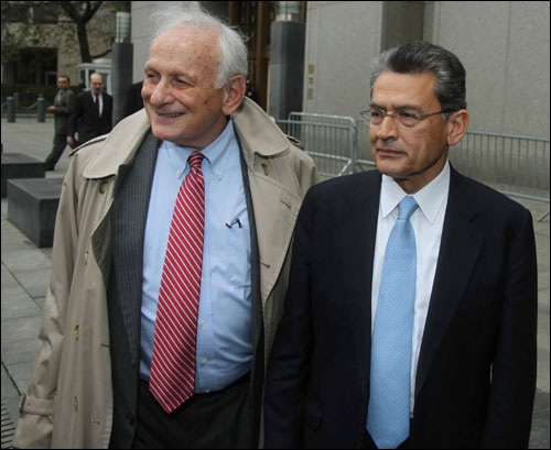 Rajat Gupta with his attorney.