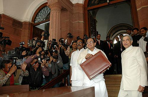 (From left) Finance Minister P Chidambaram with Railway Minister Pawan Kumar Bansal.