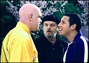 Jack Nicholson [centre] and Adam Sandler [right] in Anger Management