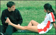 JonathanRhys-Myers and Parminder Nagra in Bend It Like Beckham