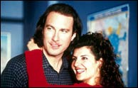 John Corbett and Nia Vardalos in My Big Fat Greek Wedding