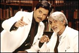 Anil Kapoor with Amitabh Bachchan in Armaan