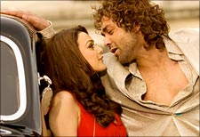 Preity Zinta and Bobby Deol in Jhoom Barabar Jhoom