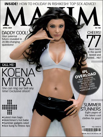 Koena Mitra on the Maxim cover
