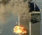 The second explosion at the WTC
