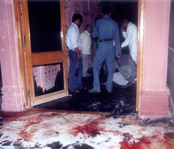 Akshardham temple in Gandhinagar, Gujarat, after it was attacked by terrorists on September 25, 2002