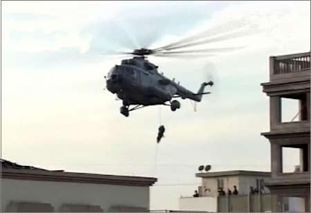 NSG commandos in a combat at Nariman house, Mumabi