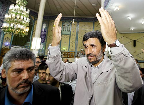 Mahmoud Ahmadinejad, President of the Islamic Republic of Iran.