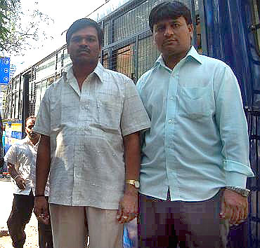 (Left) Hanumant Sitaram Kute and Sameer Ahmed Shaikh