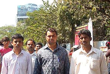 (Left) Tushar Nagawade, Vishal Gondhale and Anil Jawle