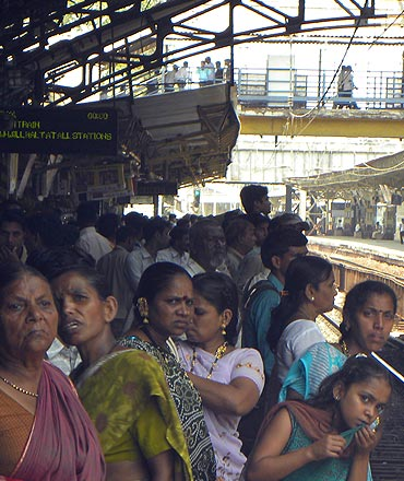The railway stir meant a greater crush at Mumbai's railway stations
