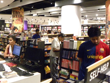 Inside the 42,000 square foot Landmark bookstore at Lower Parel, Mumbai