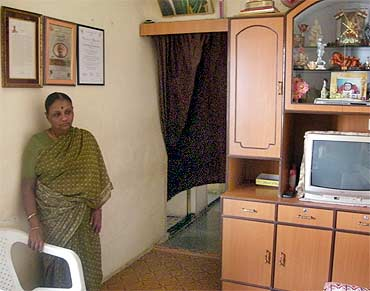 Omble's wife Taramati at their home