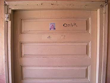 Omble --  it was scribbled on the door