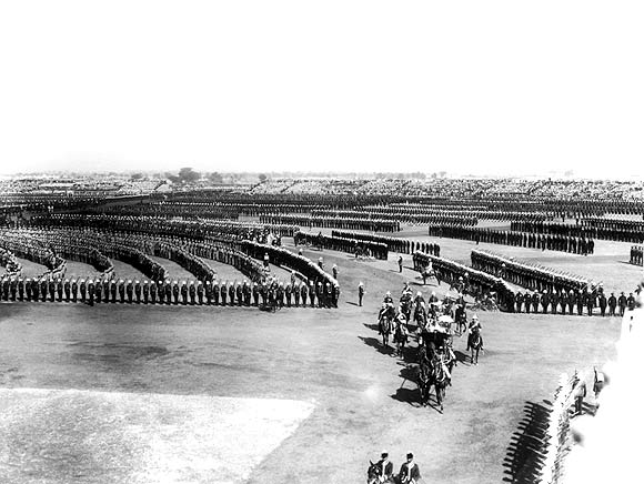 Lord Charles Hardinge, Viceroy of India, arrives at the Delhi Durbar in Coronation Park, Delhi