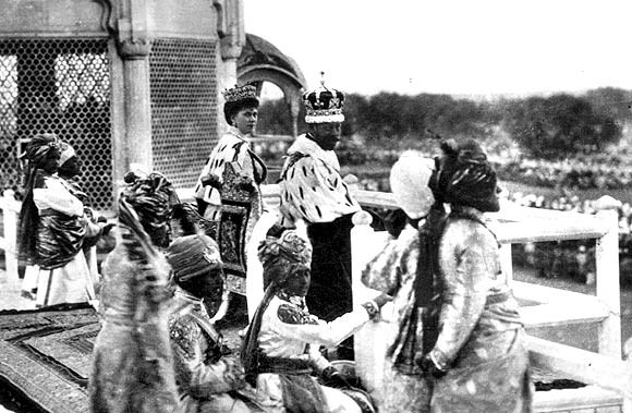 King-Emperor George V and Queen-Empress at the Coronation Park in Delhi in 1911
