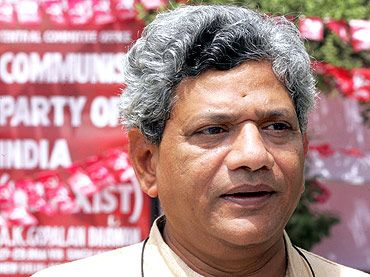 CPI-M leader Sitaram Yechury struck a discordant note with CPI in the all party meeting
