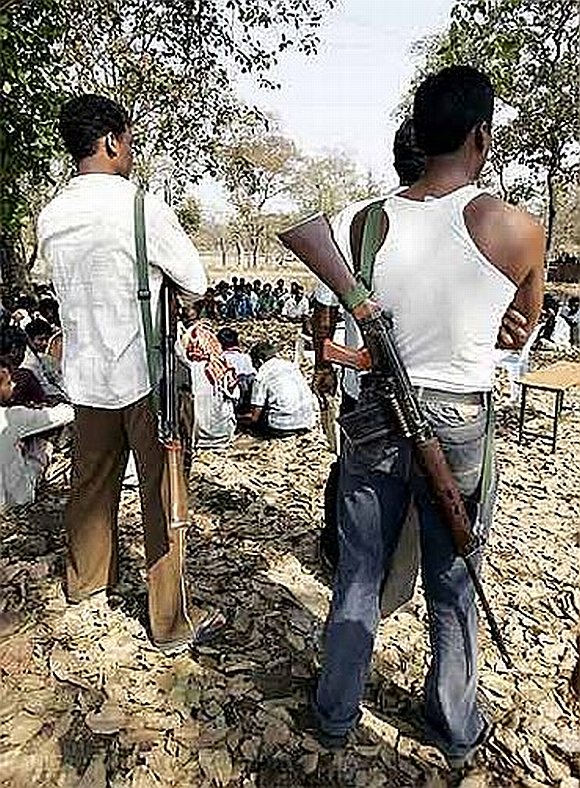 Maoists at their hideout