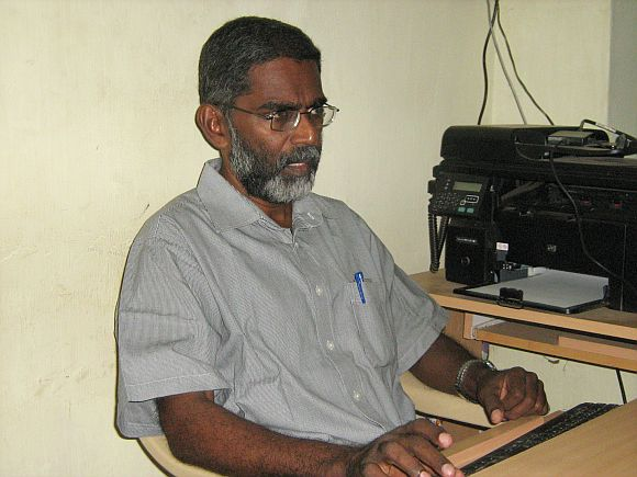 S P Udayakumar is seen sending out mails to international organisations during his fast onto death agitation