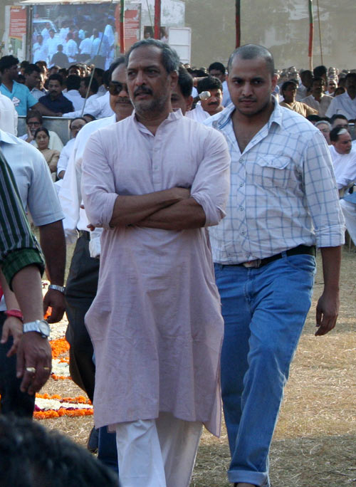 Bollywood actor Nana Patekar seen at Shivaji Park on Sunday