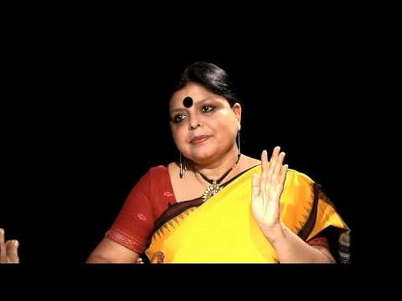 A video grab showing Congress leader Deepa Dasmunshi