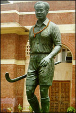 A statue of the maestro in Jhansi