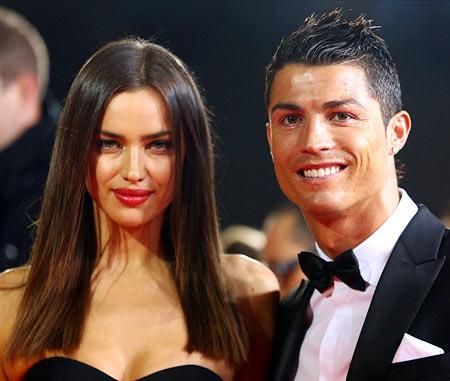 Irina with boyfriend Cristiano Ronaldo