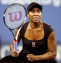 Rediff Sports - Cricket, Indian hockey, Tennis, Football, Chess, Golf - Injured Venus pulls out of Wimbledon