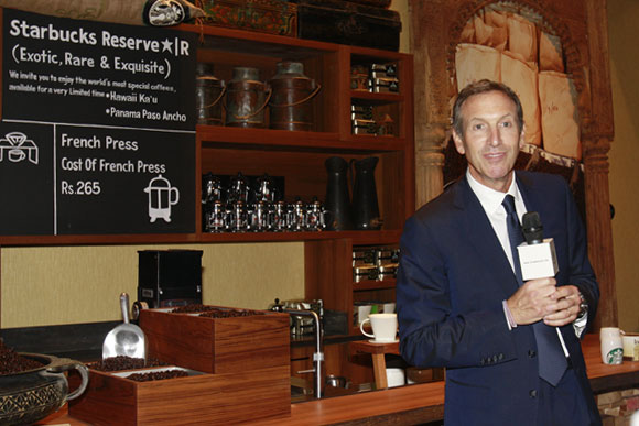 CEO Howard Schultz launches Starbucks in India.