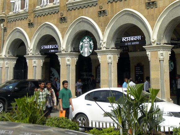 India's first Starbucks is located at Horniman Circle, Mumbai.