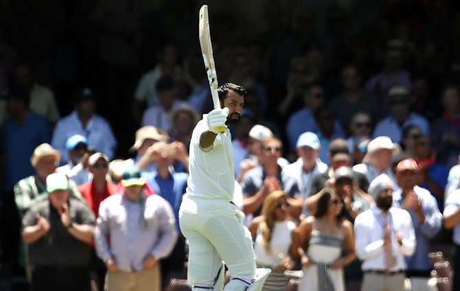 Rediff Cricket - Indian cricket - 'World can learn to play Test cricket from Pujara'