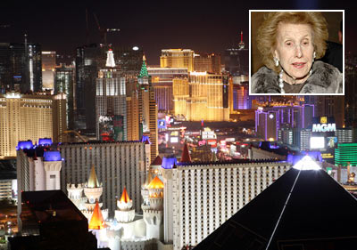 Lights on the Las Vegas Strip. (Inset: Anne Cox Chambers)