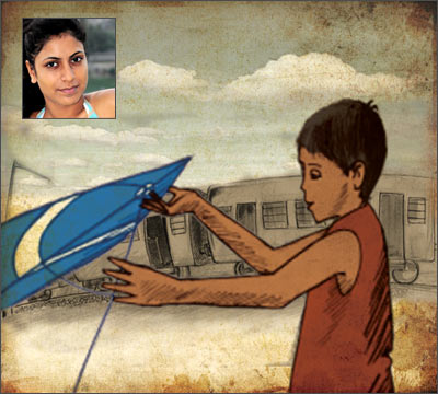 Ketki Saxena (inset) and her animated film Gitanjali