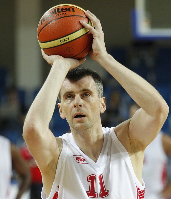 File image of Prokhorov participating in a friendly basketball match in Moscow