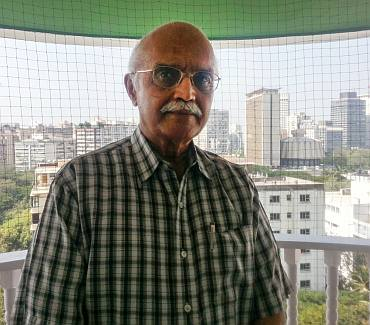 Vapalla Balachandran, Former Special Secretary, Cabinet Secretariat, Government of India, at his home in South Mumbai